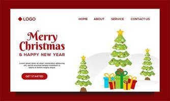 Frohe Weihnachten und ein gutes neues Jahr Landingpage vektor