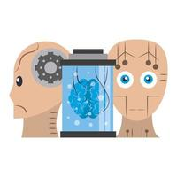 Cartoon-Komposition des Konzepts der künstlichen Intelligenz