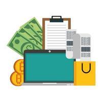 Bitcoin, Kryptowährung und Online-Zahlung