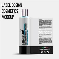 kosmetikflaskpaketmall med ren elegant design vektor