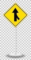 gelbes Verkehrswarnschild