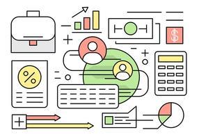 Lineare Finanzen und Banking Vector Elements