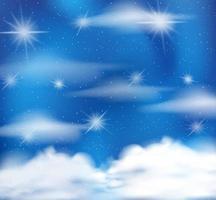 magischer märchenhafter pastellblauer Himmelhintergrund