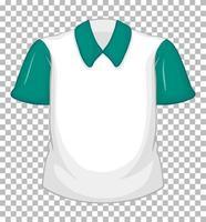 tom vit skjorta med gröna korta ärmar