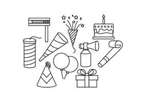 Gratis Party Line Icon Vector