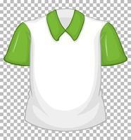 leeres weißes Hemd mit grünen kurzen Ärmeln