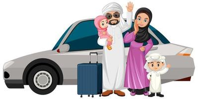 arabisk familj på semester