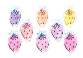Vektor Hand gezeichnet Erdbeeren