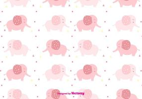 Girly Baby Elefantenmuster vektor