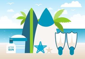 Free Design Vector Sommerzeit Hintergrund