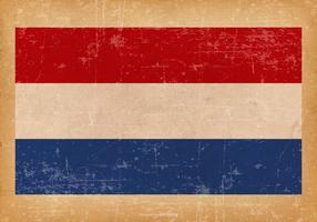 Grunge flagga av Nederländerna vektor