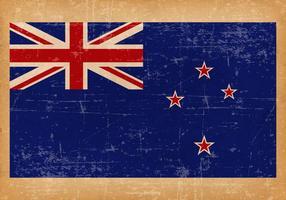 Grunge flagga av Nya Zeeland