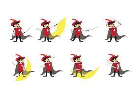 Cartoon Musketier Vektor