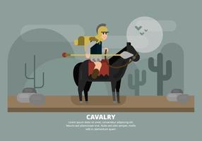 Kavalleriillustration vektor