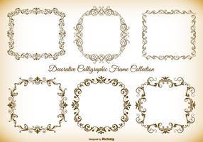 Dekorativ kalligrafisk vektorramsamling