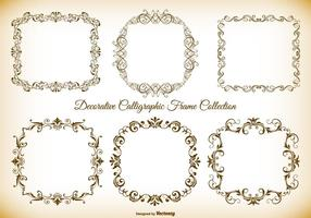 Dekorative kalligraphische Vektorrahmen-Sammlung