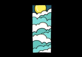 Mond und Wolken entwerfen