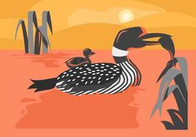 Free Unique Loon Bird Vektoren