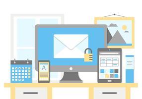 Gratis planlösning Vector Office Business Elements
