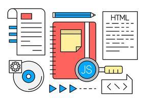 Kostenlose Linear Web Development Vectors