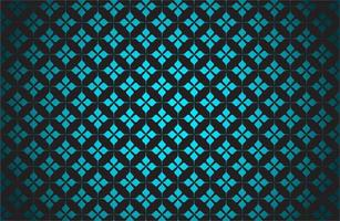 glödande blå stjärnmönster på svart