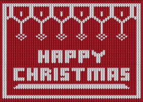 stickad design för lycklig jul