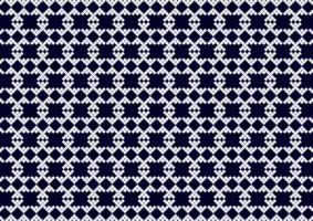 geometrisches Pixelmuster dunkelblau und weiß
