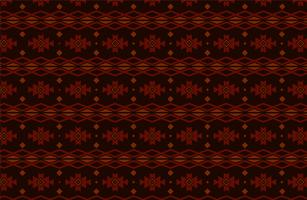 rotes und schwarzes Stammes- oder ethnisches Muster vektor