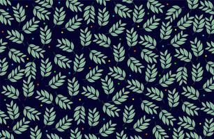 Blätter und bunte Punkte Stoffmuster
