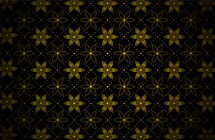 dunkelgoldenes Blumenpunktmuster vektor