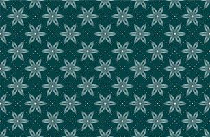 nahtloses Muster mit gepunkteten weißen Blüten