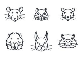 Rodent Face Icon vektor