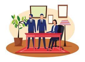 Geschäftsleute arbeiten zusammen vektor