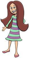 unge eller tonåring flicka karaktär tecknad