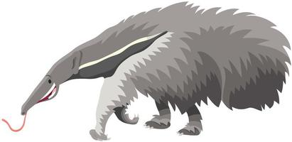 jätte anteater djur tecknad