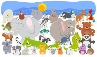 tecknad djur karaktärer folkmassan bakgrund