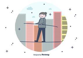 Tightrope Vektor Hintergrund