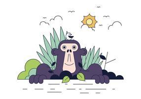 Freier Gorilla-Vektor vektor