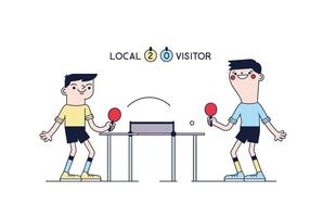 Gratis Ping Pong Vector