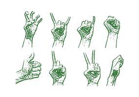 Lithographie Hand Vektor