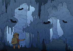 Höhle Vektor-Illustration
