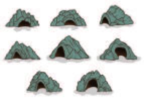 Uppsättning av grotta ikoner