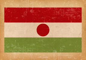Grunge Flagge von Niger vektor