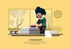 Litografi Illustration vektor