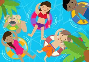 Barnpoolparty på sommaren
