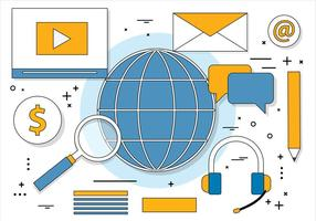 Gratis Flat Design Vector Digital Media Ikoner