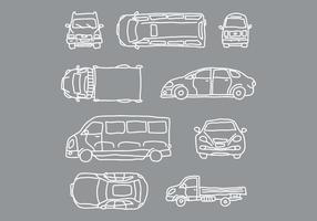 Bil- och fordonsvektorer vektor
