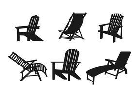 Gräsmatta stol vektor uppsättning