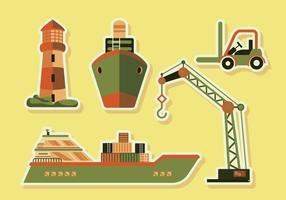 Shipyard Versorgung Transport Vektor-Illustration