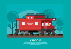 Caboose illustration vektor